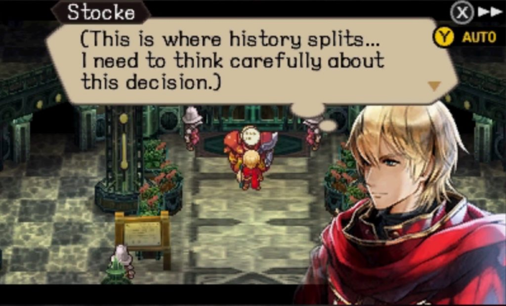 Radiant Historia Perfect Chronology 3DS choix