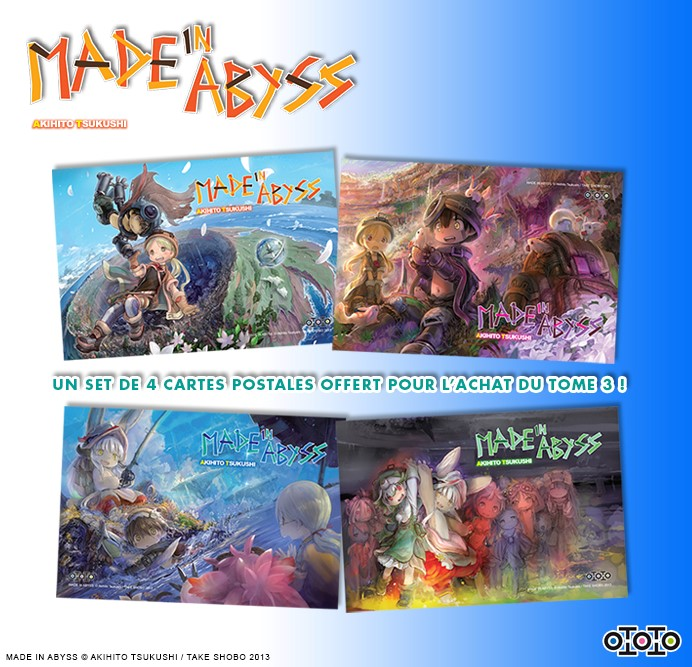 made in abyss cartes postales