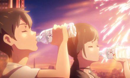 Weathering With You et Suntory main dans la main dans une publicité
